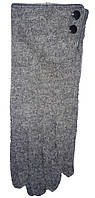 Перчатки женские 505 пуговички с мехом (зима)