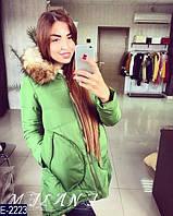 Курточка ткань плащёвка, синтепон 200, мех искусственный, Капюшон съёмный