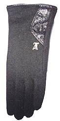Перчатки женские 307 значок с мехом (зима)