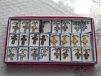 Крестики нательные на цепочке разные виды