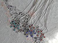 Подвески с крестиком в камушки на шею, фото 1