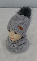 Комплект детский шапка+баф