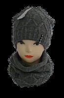 Детский комплект шапка+баф 10-15 лет