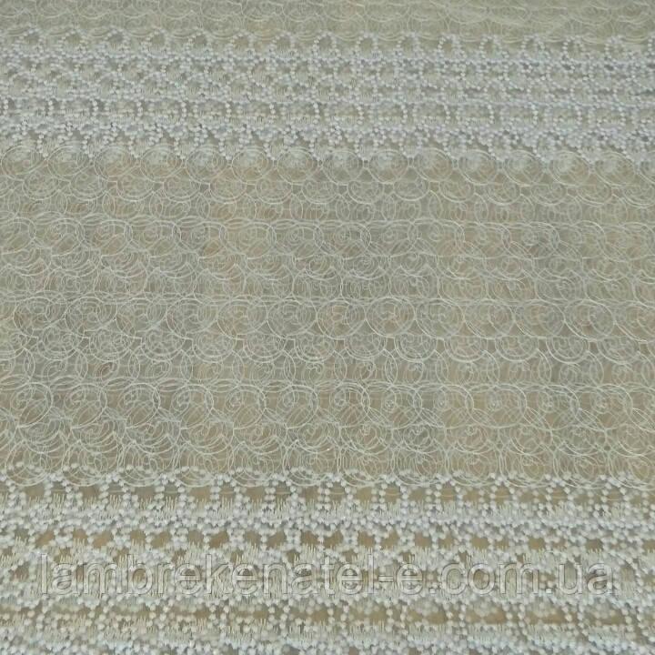 Тюль фатиновая вышивка колечки