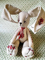 Украинская Национальная игрушка Зайчик в вышиванке мягкая кукла