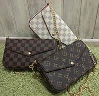 Женская сумка-клатч на цепочке Louis Vuitton Луи Виттон