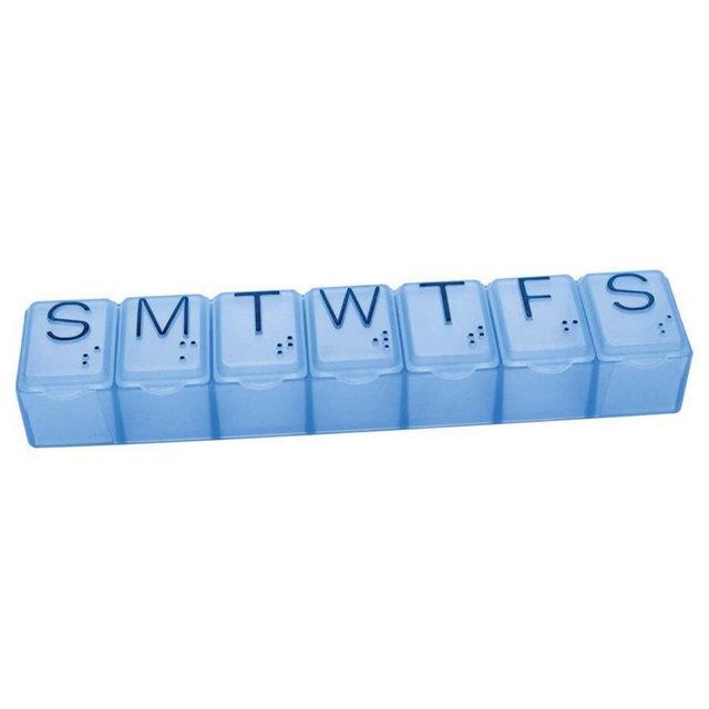Органайзер для таблеток блакитний на 7 днів
