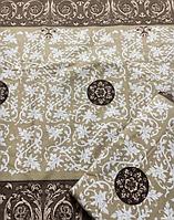 Комплект шоколадного постельного белья из бязи Gold, 100 % хлопок, завитки полуторное