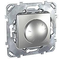 Светорегулятор алюминий 400 Вт Schneider Electric - Unica (Шнейдер Электрик Уника mgu3.511.30), фото 1