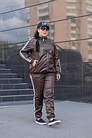 """Спортивный костюм плащёвка """"Монако""""коричневый (48-82)"""