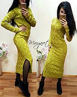"""Женское вязаное платье """"Лало"""" - фисташка"""