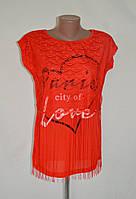 """Стильная ажурная футболка """"Paris city of love"""" в расцветках"""