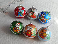 Новогодние шары на елку символ года 8см