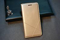 Чехол книжка для Lenovo A6000 A6010 Pro K3 K30 золотой (золото)