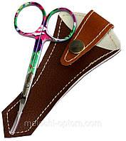 Ножницы маникюрные CREZ (для кутикулы) цветные, ручная заточка