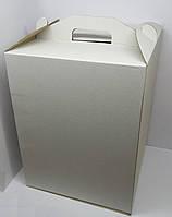 Картонная коробка для торта 30*30*40 см (белая)
