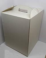 Картонная коробка для торта 30*30*40 (белая)