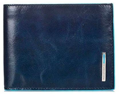 Классное кожаное портмоне Piquadro Blue Square 12.5x9.5x2.5 см PU257B2_BLU2 синий