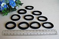 Резиночка черная 3 см махровая