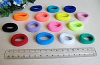 Резиночка цветная 3 см махровая