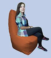 Бескаркасное кресло мешок Prime коричневое