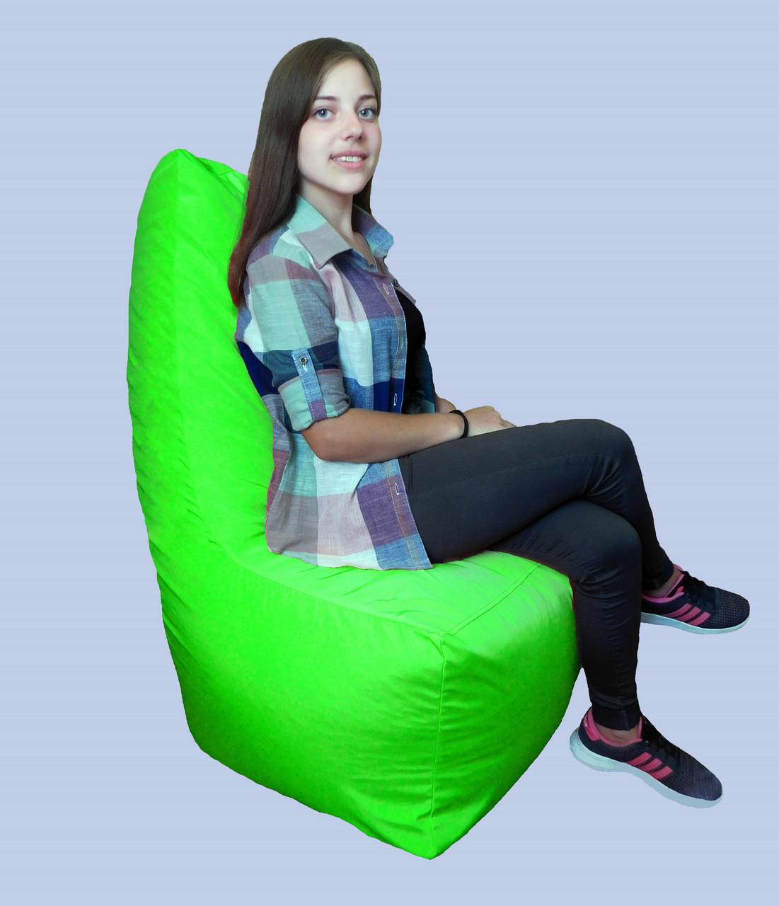 Бескаркасное кресло мешок Prime салатовое