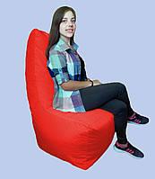 Бескаркасное кресло мешок Prime коралловое