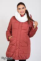 Очень теплая зимняя куртка для беременных Jena, пыльный кедр*