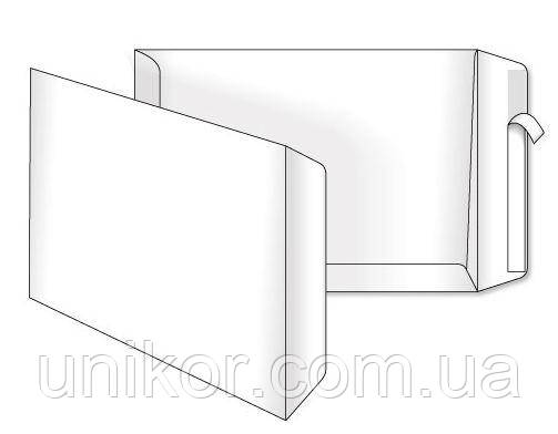 Конверт C4 (229*324) самоклеющийся, боковой клапан, офсет 90 г/м2. Optimail