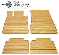 Резиновые коврики Stingray Стингрей Мерседес Бенц W220 С 1998- Комплект из 4-х ковриков Бежевый в салон