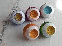 Новогодние шары ручная работа 10см