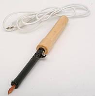 Электропаяльник 40Вт деревянная ручка