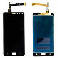 Дисплей (экран) для Lenovo Vibe P1 A42 леново с тачскрином в сборе, цвет черный, копия высокого качества