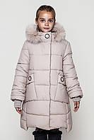 Зимнее модное пальто для девочки Энди (128-158р).