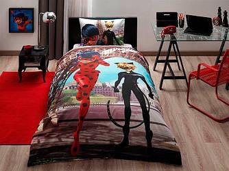 Детское подростковое постельное белье TAC Disney Miraculous Ранфорс