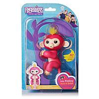 Интерактивная ручная обезьянка оригинал Белла розовая  Fingerlings Wowwee Pink 37054
