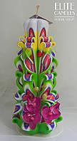 Свеча резная орхидея, ручной работы, фото 1
