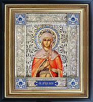 Святая Вера именная икона скань