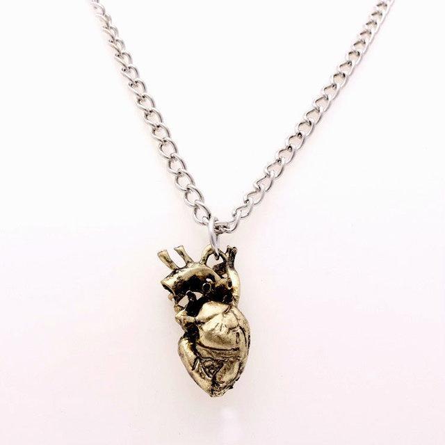 Кулон Сердце анатомическое на цепочке