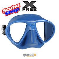 Маска Mares X-Free для плавания и подводной охоты (синяя)