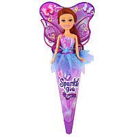 Кукла Волшебная фея Николь в сиренево-голубом платье с розовыми крыльями 25 см Funville (FV24110-4)