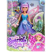 Кукла Цветочная фея Фиалка в сиренево-голубом платье с аксессуарами 25см Funville (FV24010-1)