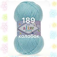 Детская пряжа  для ручного вязания ŞEKERİM BEBE (Шекерим беби) акрил    189 светло голубой