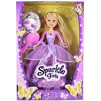 Кукла Принцесса Рапунцель в лиловом платье с длинными рукавами  25см Funville (FV24455-1)