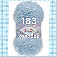 Детская пряжа  для ручного вязания ŞEKERİM BEBE (Шекерим беби) акрил    183 светло-голубой