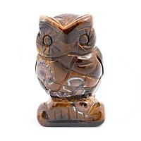 Тигровый глаз, статуэтка Сова, 208ФГТ