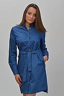 Джинсовое платье-рубашка с поясом размер 36, 38, 40, 42, 44.
