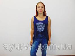 Майка женская с порезной спинкой из Индии/ размер  S/M