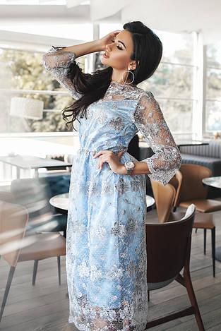Эксклюзивное коктейльное платье миди 3579