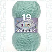Детская пряжа  для ручного вязания 19 светло-зеленый